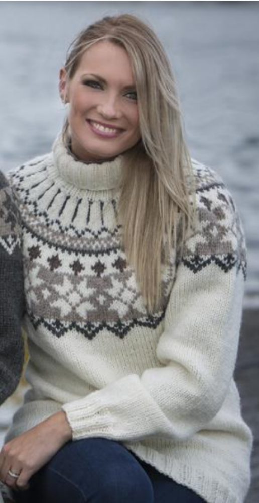Strikkemekka.no viking svart genser hobby