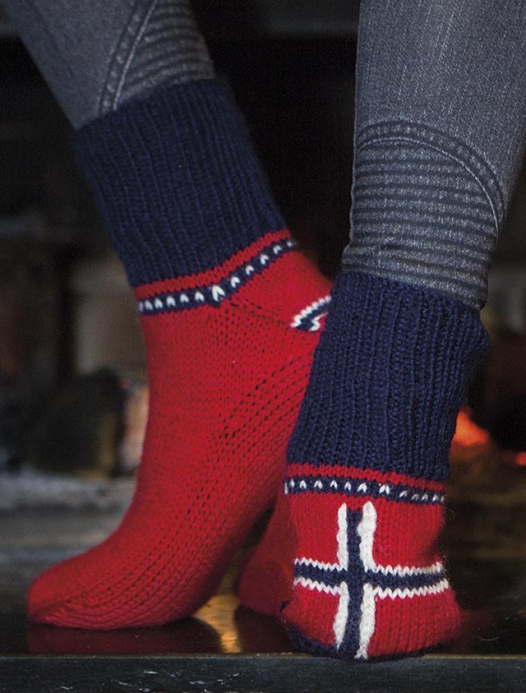 Strikkemekka.no genser med flagg