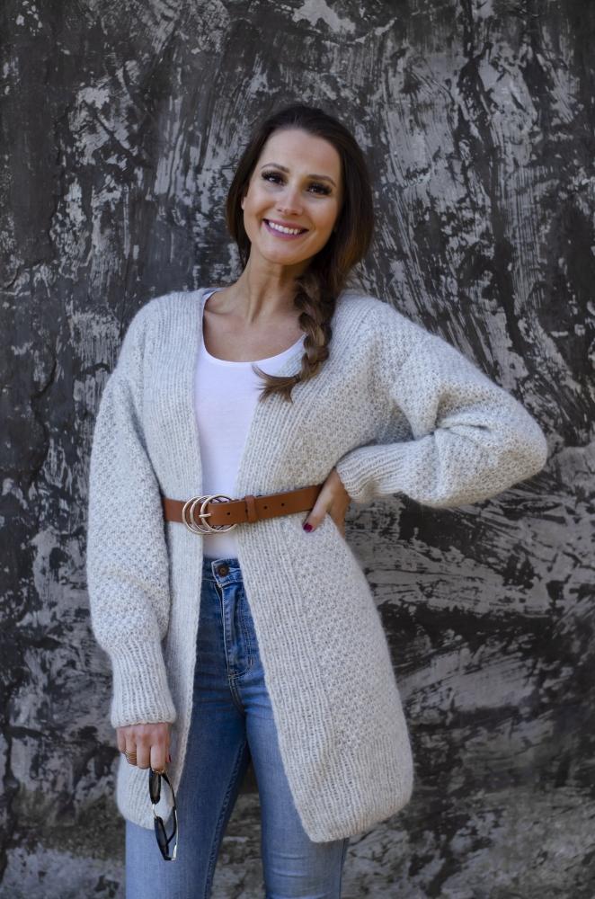 oppskrift cardigan genser