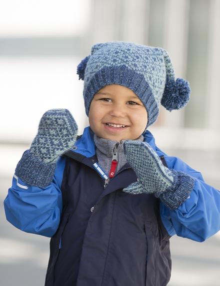 f0e1b138 Strikkemekka.no - viking reflex lue og votter barn