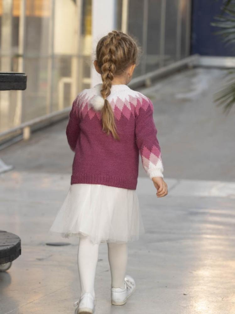 Strikkemekka.no viking merle genser jente barn