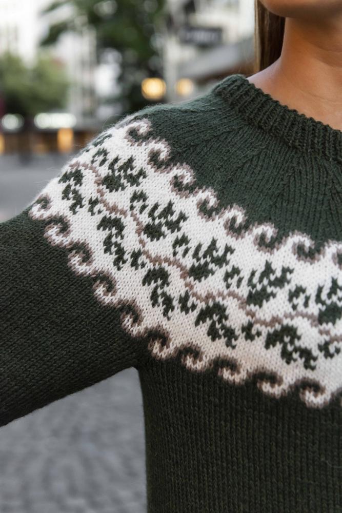 høstblad genser oppskrift
